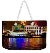 Globes On The Bund At Night Weekender Tote Bag