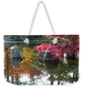 Glorious Fall Colors Reflection With Border Weekender Tote Bag