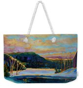Glorious Winter Sunrise Weekender Tote Bag