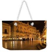 Glossy Outdoor Living Room - Syracuse Sicily Italy Weekender Tote Bag