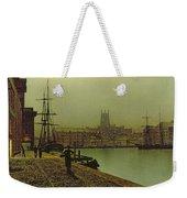 Gloucester Docks Weekender Tote Bag by John Atkinson Grimshaw