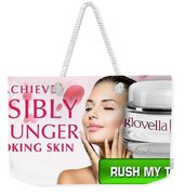 Glovella Cream Weekender Tote Bag