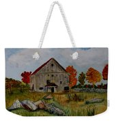 Glover Barn In Autumn Weekender Tote Bag