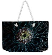Glow Edge Flower Weekender Tote Bag