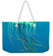 Glow Green Jellyfish Weekender Tote Bag