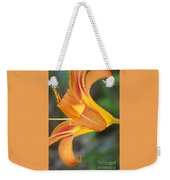 Glow Of A Lily Weekender Tote Bag