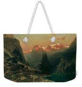Glowing Alps Weekender Tote Bag