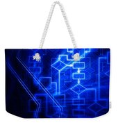 Glowing Blue Flowchart Weekender Tote Bag