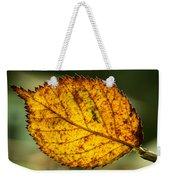 Glowing Fall Leaf Weekender Tote Bag