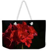 Glowing Flower In The Dark Weekender Tote Bag