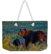 Glowing Grizzly Bear Weekender Tote Bag