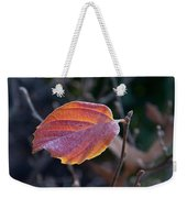Glowing Leaf Weekender Tote Bag