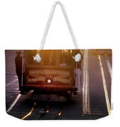 Glowing Magical Cable Cars On Nob Hill Weekender Tote Bag