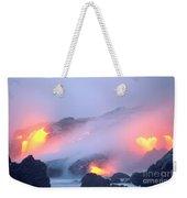 Glowing Orange Lava Weekender Tote Bag
