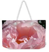 Glowing Pink Rose Flower Giclee Prints Baslee Troutman Weekender Tote Bag