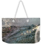Glowing Raindrops In The City Weekender Tote Bag