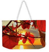 Glowing Red Weekender Tote Bag