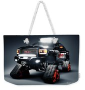 Gmc Pickup Truck On Snow Tracks Weekender Tote Bag