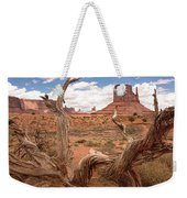 Gnarled Tree At Monument Valley  Weekender Tote Bag