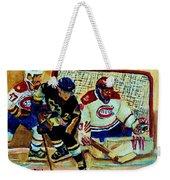 Goalie  And Hockey Art Weekender Tote Bag