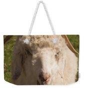 Goat Eating Weekender Tote Bag