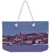 Goat Hill At Sunset In Winter Weekender Tote Bag