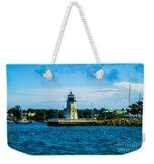 Goat Island Light House Weekender Tote Bag