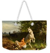 Goat Kid And A Hen Weekender Tote Bag