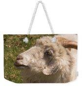 Goat Looking Up. Weekender Tote Bag