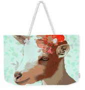 Goat With Flower Weekender Tote Bag