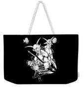 Goatlord And Baphomet Black Weekender Tote Bag
