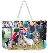 Goats At County Fair Weekender Tote Bag