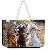 Goats Poster Weekender Tote Bag