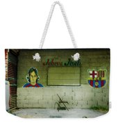 God And Futbol Weekender Tote Bag