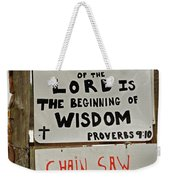 God And Saws Weekender Tote Bag