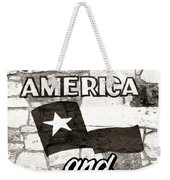God Bless America And Texas Weekender Tote Bag