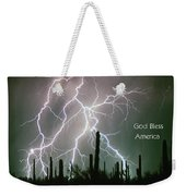 God Bless America Color Lightning Storm In The Usa Desert Weekender Tote Bag