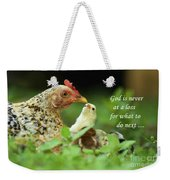 God Is Never At A Loss Weekender Tote Bag