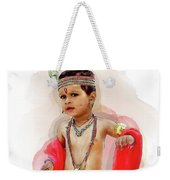 God Krishna Style Watercolor Weekender Tote Bag