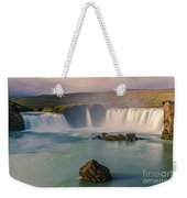 Godafoss In Iceland Weekender Tote Bag