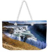 Godafoss Waterfall Weekender Tote Bag