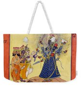 Goddess Bhadrakali Worshipped By The Gods. From A Tantric Devi Series Weekender Tote Bag