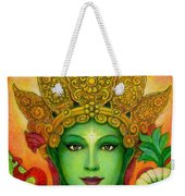 Goddess Green Tara's Face Weekender Tote Bag