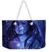 Goddess In Blue Weekender Tote Bag