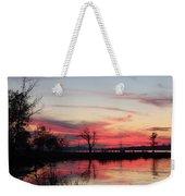 God's Hand On The Lake Weekender Tote Bag