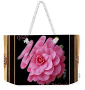 God's Paintbrush With Gold Frame Weekender Tote Bag