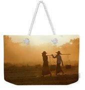 Going Home At Sunset Weekender Tote Bag
