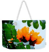 Gold African Tulips Weekender Tote Bag