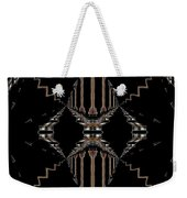 Gold And Black With Silver Design Abstract Weekender Tote Bag